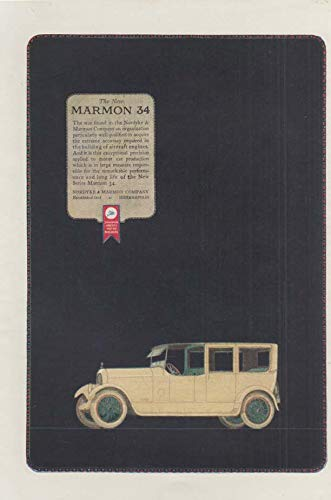 (Exceptional precision applied to motor cars Marmon 34 Limousine ad 1921 ATL)