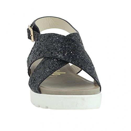 Sandalias de Mujer REFRESH 61796 GLITTER NEGRO