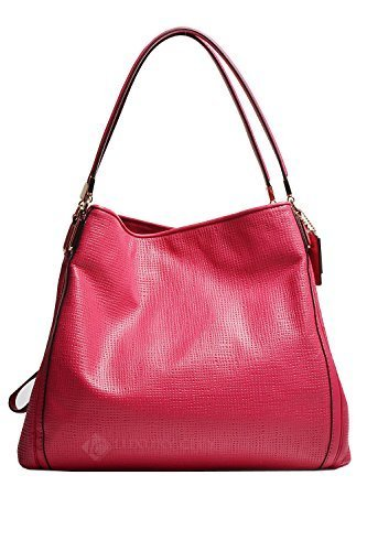 Coach-Madison-Embossed-Leather-Small-Phoebe-Shoulder-Bag-30089-Pink-Ruby