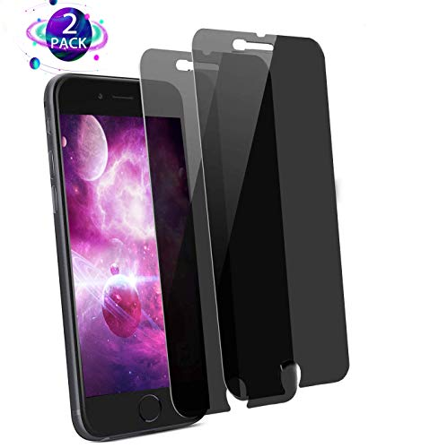 [2-Pack] NALIGHT iPhone 8 Plus Tempered Glass Privacy Screen Protector [No Bubbles][9H Hardness] Compatible with Apple iPhone 8 Plus and iPhone 7 Plus and iPhone 6 Plus Privacy