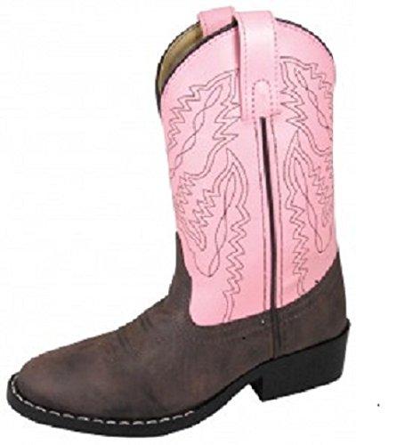Smoky Mountain Childrens Girls Toddler Monterey Boots Brown/Pink, 9M ()