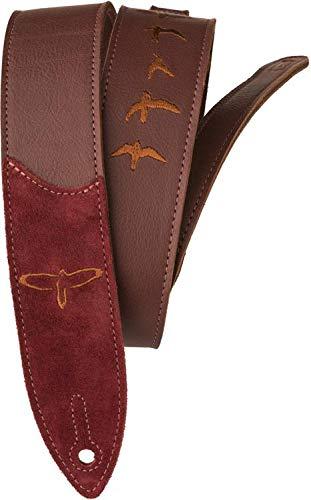 PRS Premium Leather Strap - Burgundy