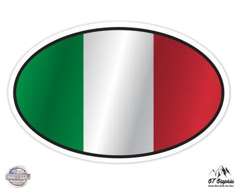 Italy Flag Oval - 7