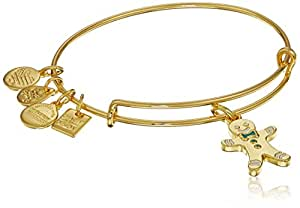 """Alex and Ani """"Charity By Design"""" Gingerbread Man II Expandable Wire Bangle Charm Bracelet"""