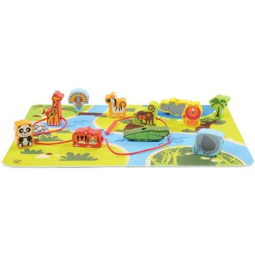 (Hape On Safari Wooden Play Set with Floor Mat)