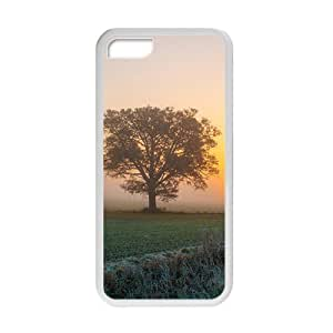 Personalized Creative Cell Phone Case For iPhone 6 (4.5),misty sunrise sky and longly tree