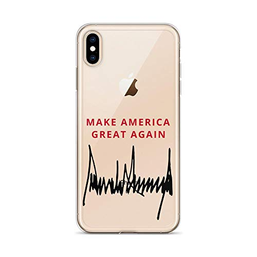iPhone Xs Max Case by Luxedore Full-Body Clear Bumper Case for iPhone Xs Max,X/XS,8/8 Plus,7/7 Plus,6/6Plus (2018 Release) (Clear) MAGA Trump Case (iPhone Xs Max)