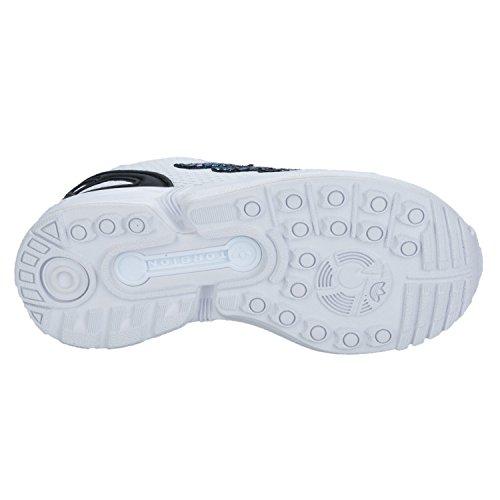 a8b795fa8c0fd adidas Originals Girl s Zx Flux Metallic Snake Trainers 13 child White