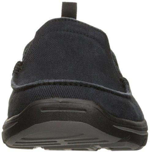 Skechers USA Men's Harper Delen Slip-On Loafer,Black Canvas,10 M US by Skechers (Image #4)