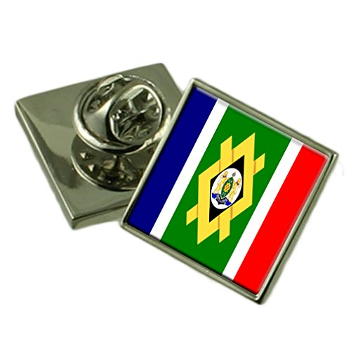 Johannesburg City South Africa Flag Lapel Pin Engraved Box by Select Gifts