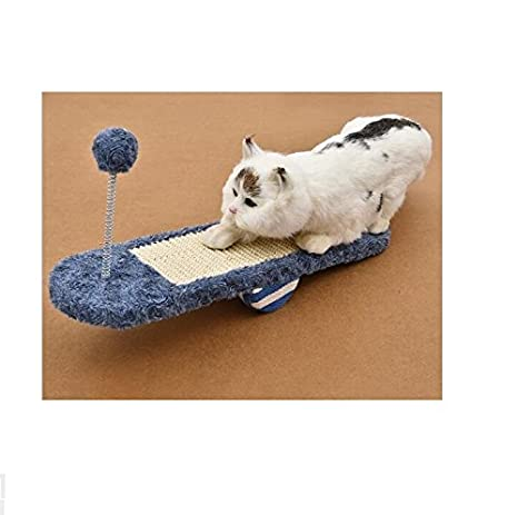 MwaaZ Camas para Gatos Sofás See-Saw Pet Cat Toys Gato Scratch Board Gato Rectificado Claw Royal Blue: Amazon.es: Productos para mascotas