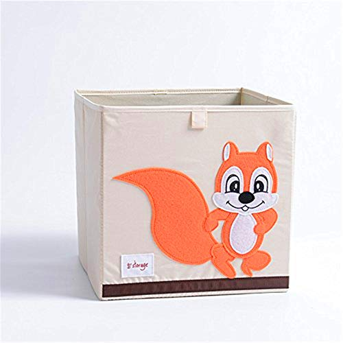 (Cartoon Toy Storage Box for Baby Canvas Storage Box/Bin/Cube/Chest/Basket/Organizer (Fox))