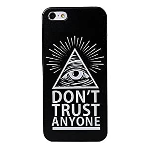 RC - Abstract Eye Pattern Black Plastic Hard Case Cover for iPhone 5/5S