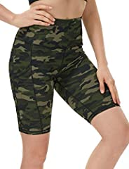 Dilanni Women's Yoga Shorts with Pockets- High Waisted Workout Shorts for