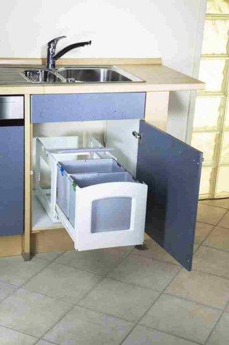 Leifheit Hausrein INSIDE - 2 x 18 Liter Einbauabfallsammler: Amazon ...