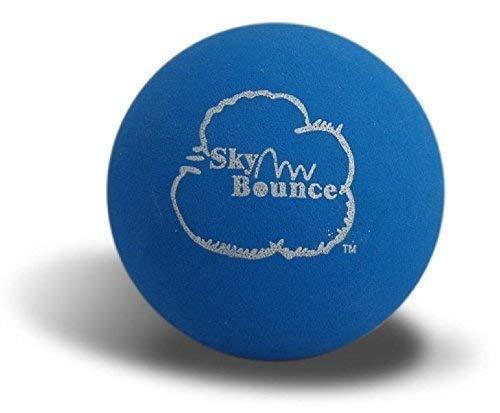 Sky Bounce Balls Blue Color Rubber Handball for