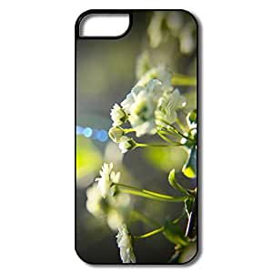 Cute White Little Flowers Full Protection PC Mobile Phone 5s Case