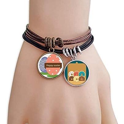 SeeParts Happy Easter Religion Festival Colored Egg Bracelet Rope Doughnut Wristband Estimated Price £9.99 -