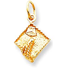 10K Gold Graduation Cap Charm College High School Grad