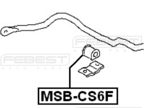 Mr519880 - Stabilizer/ Sway Bar Bushing (FRONT) D24.5 For Mitsubishi - Febest