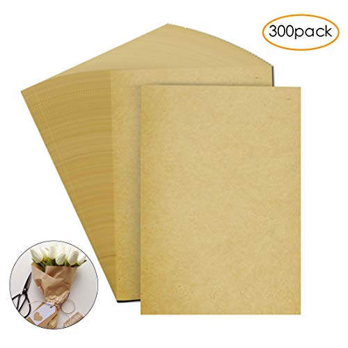 """Brown Kraft Paper 8.5/"""" x 11/"""" Letter Size Stationary Paper 96 Pack Printer Friendly Arts Crafts Office Invitations Biodegradable Rustic Recycled Tan"""