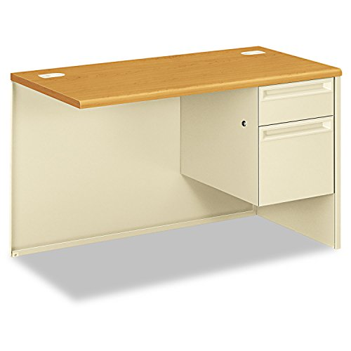 Hon Right Pedestal Return Desk with Lock, 48 by 24 by 29-1/2-Inch, Harvest/Putty ()