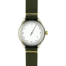 Squarestreet SQ03-A-06 Mens Minuteman Watch, One Hand, Grey (Offwhite)