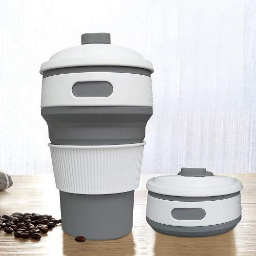 Prochive Collapsible Silicone Lightweight Coffee Cup, Reusable Folding Mug...