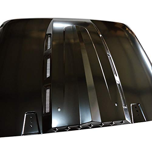 Jeep Wrangler Hood the Avenger Style Heat Dispersion for Jeep Wrangler JK JKU Unlimited Rubicon 2007-2017 Black