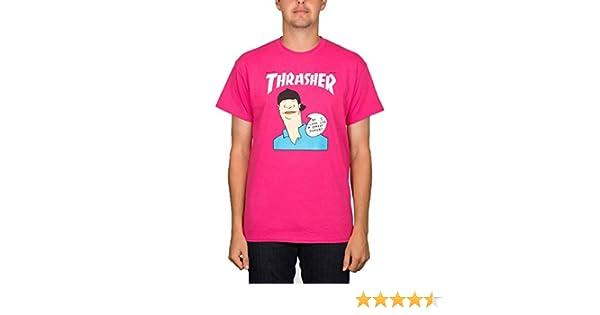 57b8eb9eb6ea Amazon.com: Thrasher Skateboard Magazine Gonz Cover T-Shirt (Pink): Clothing