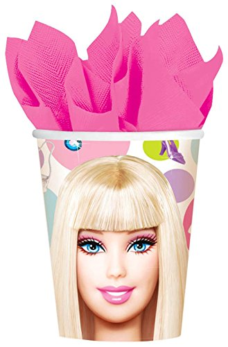 Hot Barbie Costume (Barbie All Dolled Up 9-Ounce Hot/Cold Cups, 8-Count)