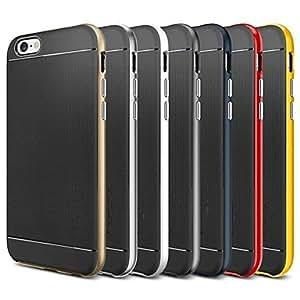TL Cubierta Posterior - Color S¨®lido - para iPhone 6 (Oro , TPU )(Blanco)