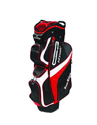 Tour Edge Golf Hot Launch 2 Cart Bag Red/Black/White