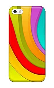 Brand New 5/5s Defender Case For Iphone (happy Wavy Colors )