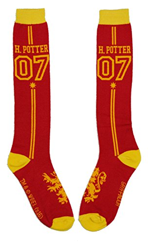 Harry Potter Quidditch Uniform Knee High Socks,Multi Colored,Adult - Slytherin Quidditch Uniform