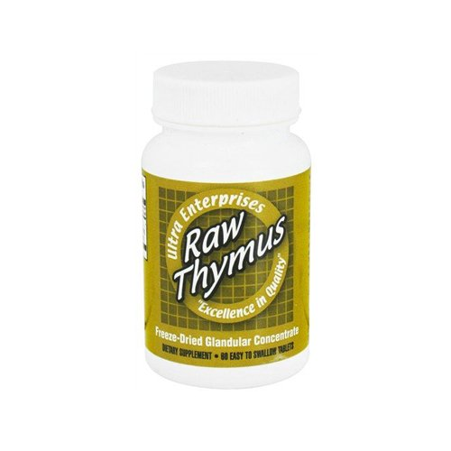 Ultra Glandulars Raw Thymus Tablets, 200 Mg, 60 Count Glandular 100 Tablets
