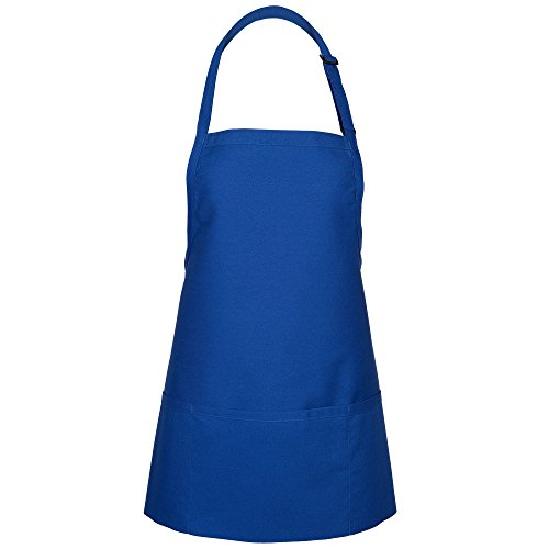 Fame Adult Extra Large 3 Pocket Bib Apron (Royal Blue-XL) F10XL-18162 (Bib Apron Blue)
