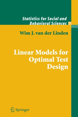 Linear Models for Optimal Test Design (Statistics for Social and Behavioral Sciences)