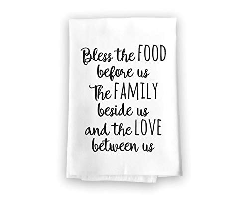 Sacks Food - Honey Dew Gifts Bless The Food Flour Sack Towel, 27 x 27 Inches, 100% Cotton, Highly Absorbent, Multi-Purpose Kitchen Dish Towel