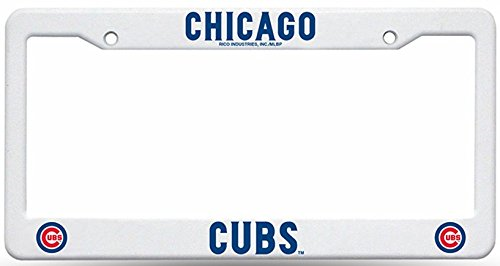 Chicago Cubs Rico Industries Plastic License Plate Frame-Cubs123