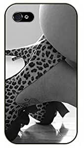 iPhone 5C High heels and a little of your immagination - black plastic case / Sexy Girl Black And White, Hot