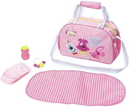 Zapf Baby Born Changing Bag Bolsa de pañales para muñecas - Accesorios para muñecas (Bolsa de pañales para muñecas, 3 año(s), Azul, Rosa, 43 cm, ...