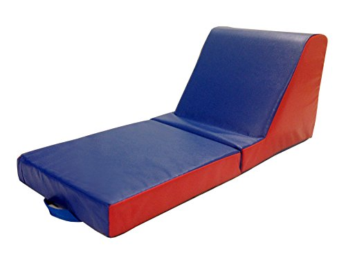 ECR4Kids SoftZone Carry Me Chaise Lounge – Folding Foam Chair for Kids and Toddlers (2 Pack)