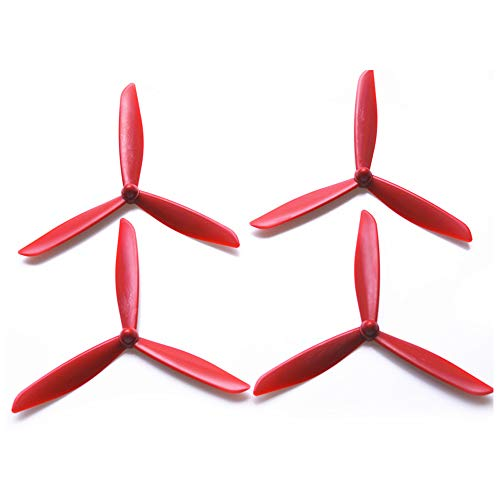 Price comparison product image Auntwhale 4PCS 3-Leaf Drone Propellers for BAYANG X21 X16 Low Noise Paddles Rapid Response Balanced Easy Install Replacement Propeller RED