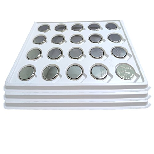 PK Cell 3V CR2032 ECR2032 Button Coin Cell Battery, 60 Pieces by PK Cell