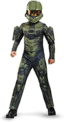 Disguise Halo Master Chief Classic Video Games Boys Kids Halloween Costume 89968