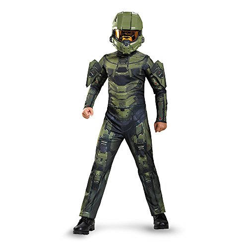 Boys Costumes (Master Chief Classic Costume, Medium)