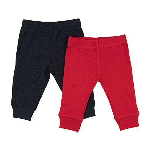 Leveret Baby Legging 2 Pack Navy & Red 18 Months ()