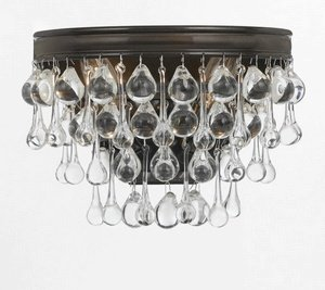 Crystorama 132-VZ Crystal Sconce from Calypso collection in Bronze/Darkfinish,