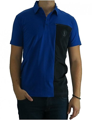 Bikkembergs - Polo Dirk Bikkembregs Big Black Stripe Zippy - 2XL, Blue